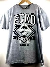 ECKO Unltd Mens MMA Front/Back Graphic T-Shirt Short Sleeve Size XL Gray $24.50