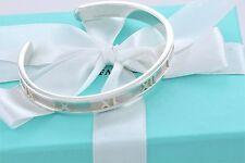 AUTHENTIC Tiffany & Co. Medium Silver Atlas Roman Numeral Cuff Bracelet Bangle