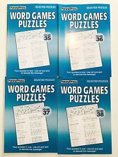 Lot of 4 Word Games Puzzles FREE SHIP Penny Press Selected Variety Puzzles DELL