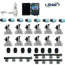 Kit irrigazione a 12 settori completo con centralina Orbit e sensore pioggia