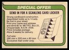 1980 • AFL • Scanlens • Victorian Teams Check List / Special Offer Card