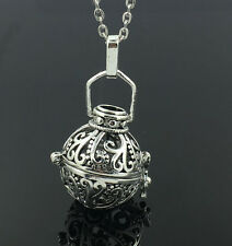 Silver Locket Necklace Fragrance Essential Oil Aromatherapy Diffuser Pendant HOT