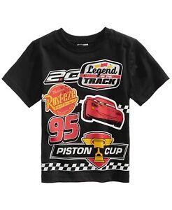 Disney Cars Piston Cup Racing Lightning McQueen Rust-Eze Cartoon T-Shirt Size 4