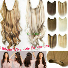 16-30 inches Halo Straight Remy Human Hair Hidden Invisible Wire Hair Extensions