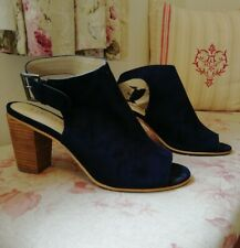 M&S Insolia navy suede open toe shoes size 6
