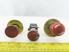 Schneider Electric Zbe 102 Red E Stop Twist Release Push Button Lot Of 3
