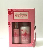 The Body Shop Japanese Cherry Blossom Perfume Lotion Gift Set Mini Spray .33oz