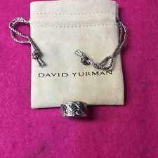 David Yurman Mens Ring With Black Diamonds