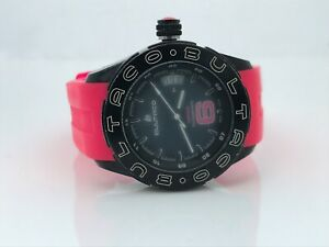 BULTACO Women Watch PINK Silicone Band Made in SPAIN Cemoto Heritage 5ATM