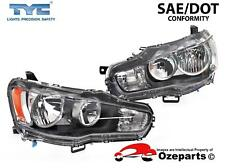 Set Pair LH+RH Head Light Lamp For Mitsubishi Lancer CJ Sedan & Hatch 2007~2015