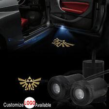 2x The Legend of Zelda Logo Car Door Lamp LED Laser Projector Ghost Shadow Light