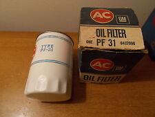 68 69 70 71 72 AMC NOS New White PF31 PF-31 AC Oil Filter 390 401 AMX Rebel