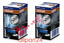 2 Osram Breaker Noche Ilimitada H11 64211NBU. 2 Paquete Nuevo y Emb. Orig.