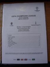 15/02/2011 UEFA CHAMPIONS LEAGUE MATCH PRESS KIT: AC MILAN V Tottenham Hotspur [