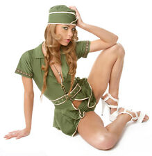 Pin-up girl sticker - Miltary stewardess - decal