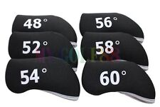 New 6pcs Black Golf Iron Wedge Head Covers Cover Neoprene For Titleist Taylormde