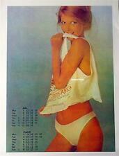 Vintage Pin-up British Airways South Africa Calendar Girl! Sexy Hot Pinup Art!