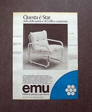 K469- Advertising Pubblicità -1975- EMU STAR , MOBILI DA GIARDINO