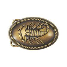 Vintage gold brass desert Scorpion signe astrologique Homme Garçons Western Boucle de ceinture nouveau