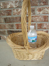 Oval Basket w/ Handle Chunky Willow Basket Wicker Crafts Home Decor Floral Gift