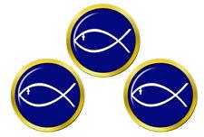 Jesus Fish Ichthys Golf Ball Markers