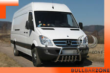 MERCEDES SPRINTER 2006-13 PARE-BUFFLE BAS AVEC GRILLE DE PROTECTION CARTER INOX