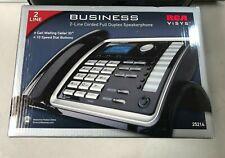 LOT OF 6 RCA ViSYS 2 Line Corded Phone with Duplex Speakerphone RCA-25214