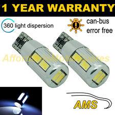 2x W5W T10 501 Errore Canbus libero BIANCO 10 SMD LED hilevel FRENO LAMPADINE hlbl104101