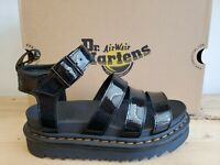 Dr Martens Blaire Black Patent Lamper Leather Lifestyle Sandals for Women