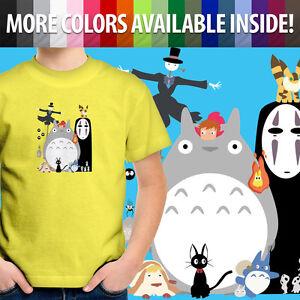 Toddler Kid Tee Youth T-Shirt Studio Ghibli Spirited Away Totoro Howl Ponyo Kiki