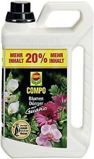 COMPO Blumen Dünger mit Guano 3l NPK Dünger Blumendünger Flüssigdünger Dung