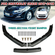 3Pcs PP Carbon Fiber Front Bumper Lip Guard Protector For Chevrolet Cruze