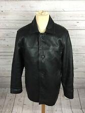 Men's GAP Leather Coat - Medium - Black - Great Condition