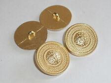 6 Stück Metallknöpfe Knopf Knöpfe Wappenknopf  23 mm gold NEU rostfrei 0320