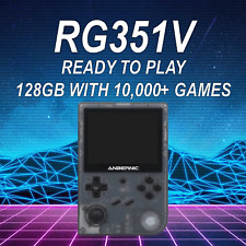 RG351V Handheld Console (Black) w/ 128GB Ready to Play 10,000+ Games - US Seller