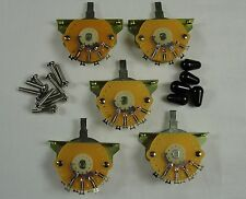 5 New Mighty Mite USA 5 Way switches for Fender Stratocaster Strat  w/ Black Tip