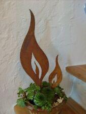 Flamme in Edelrost zum Einstecken 10cm x 35cm