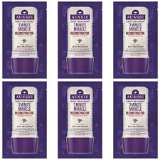 6 x Aussie 3 Minute Miracle Reconstructor Deep Conditioner for Damaged Hair 20ml
