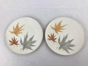 "2 Iroquois Harvest Time Dinner Plates Ben Seibel Design Leaves 10.25"" Informal"