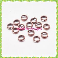 5mm 200pcs Antique Copper Bronze Split Dbl Jump Rings Jewelry Findings Earrings
