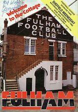 George Best Signed 1992 Fulham v Sheffield Wednesdays Programme AFTAL/UACC RD
