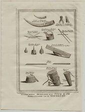 MUsikinstrumente Goldküste Orig Kupferstich 1750 Ghana AFRIKA MUSIK Niederlande