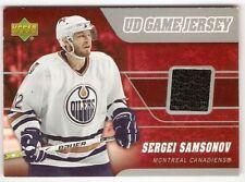 SERGEI SAMSONOV 2006-07 UPPER DECK UD GAME JERSEY J-SS MONTREAL CANADIENS OILERS