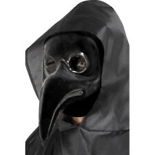 Authentic Black Plague Doctor Face Mask Horror Fancy Dress Costume Accessory