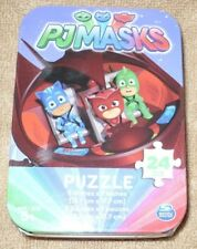 3 Puzzles in Collectible Tins - PJ Masks & Elena of Avalor & Cars