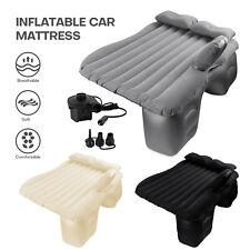Inflatable Travel Car Mattress Air Bed Back Seat Sleep Rest Mat 2 Pillows Pump