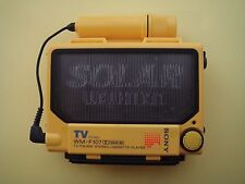 "SONY WM-F107 ""Solar Walkman"" Cassette Player Yellow! From Personal Collection"