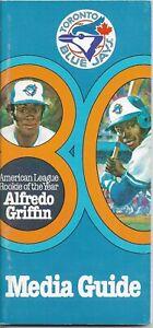 1980 TORONTO BLUE JAYS MLB MEDIA GUIDE VINTAGE