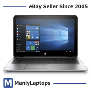"HP EliteBook 850 G3 15"" Laptop i5-6300U 3.0GHz 8GB Ram 128GB SSD - Case Crack!"
