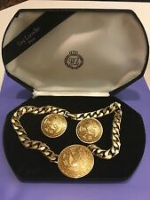 Guy Laroche Vintage Haute Couture Paris France Necklace & Earrings w Box